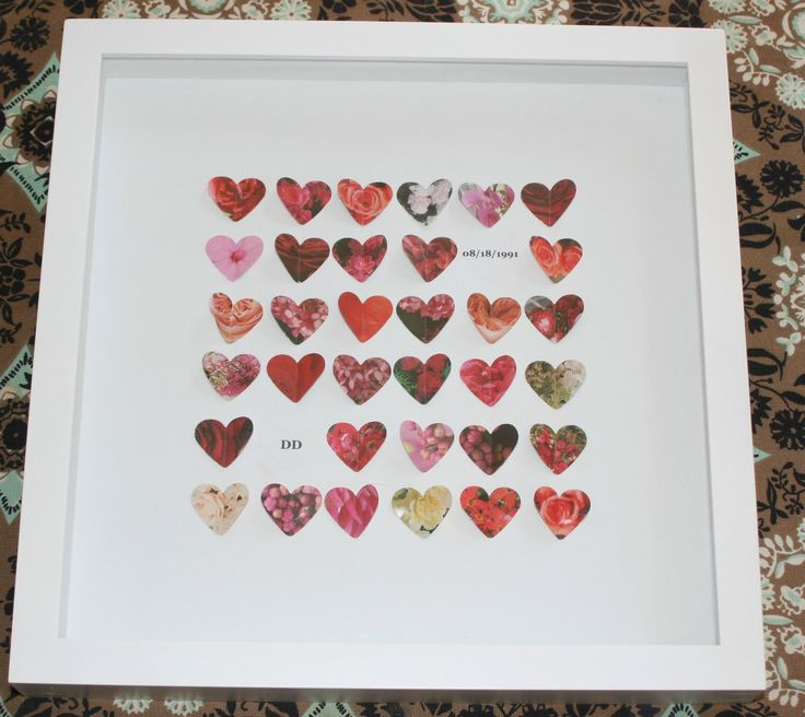 A darling anniversary or wedding gift frame