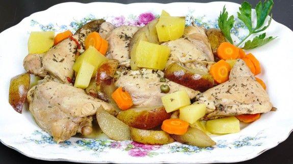 Sobrecoxa de frango na crock-pot