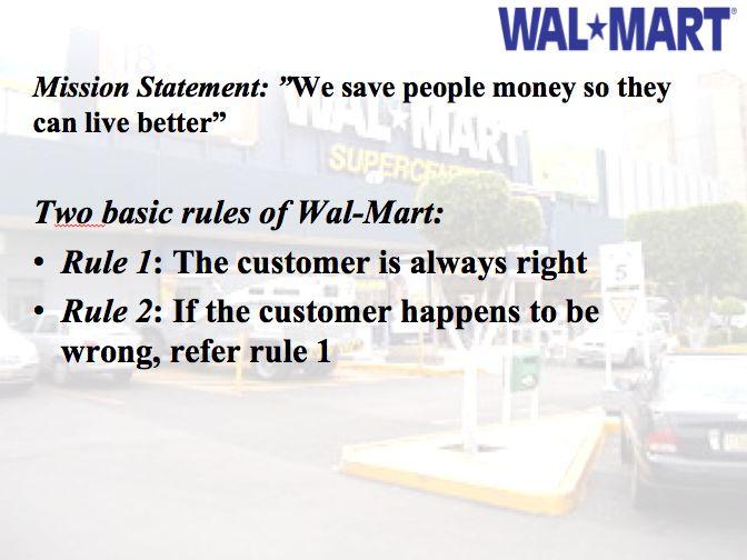 Walmart  Mission Statement  Walmart Presentation