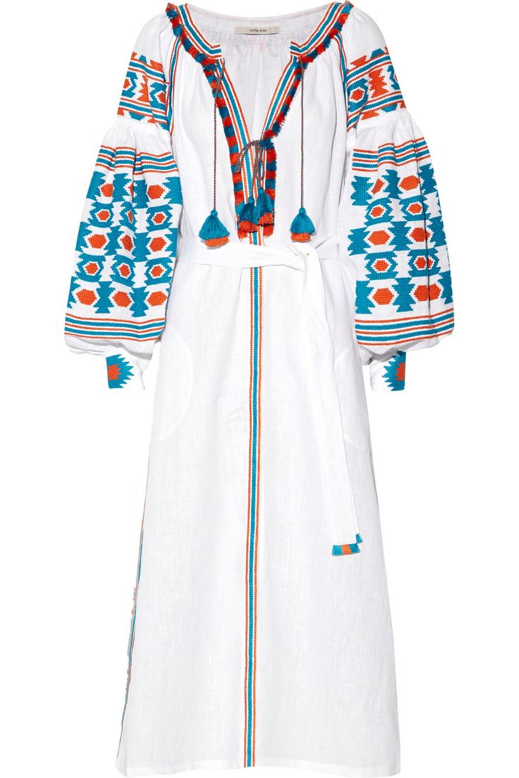 Vita Kin | Embroidered linen dress | NET-A-PORTER.COM at 2,000 US dollars Sold Out, amazing. for a beach cover-up.