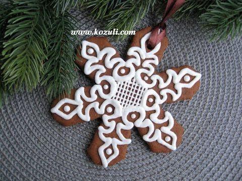 Рождественское и новогоднее печенье. Имбирное печенье. Роспись пряников ...