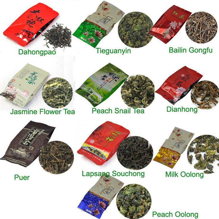 10 Видов Вкусов Чая, в том числе Puerh, Черный, Зеленый, Белый чай, улун, пуэр, Dahongpao, Tieguanyin, бесплатная Доставка