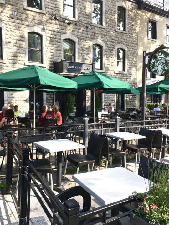 I'm such a creature of habit, that one of the first things I do when I travel is find the closest Starbucks - lol. This one is at 684 Grande Allée E in beautiful Quebec City - my morning routine is safe!