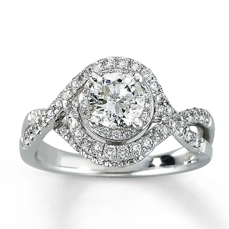 Simple Diamond Engagement Ring ct tw Round cut K White Gold Kay Jewelers