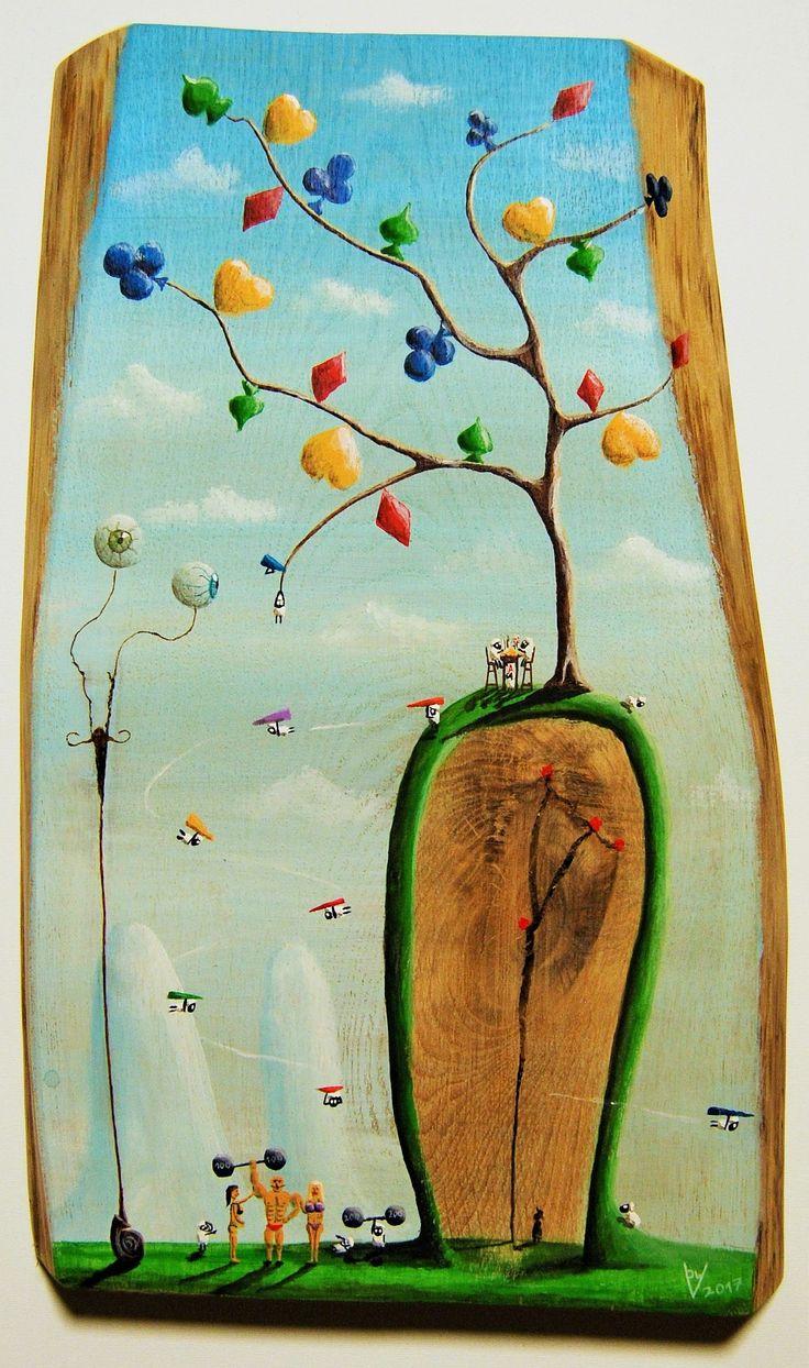 """""""me 14"""" Paweł Widera original paintings, acrylic on wood"""