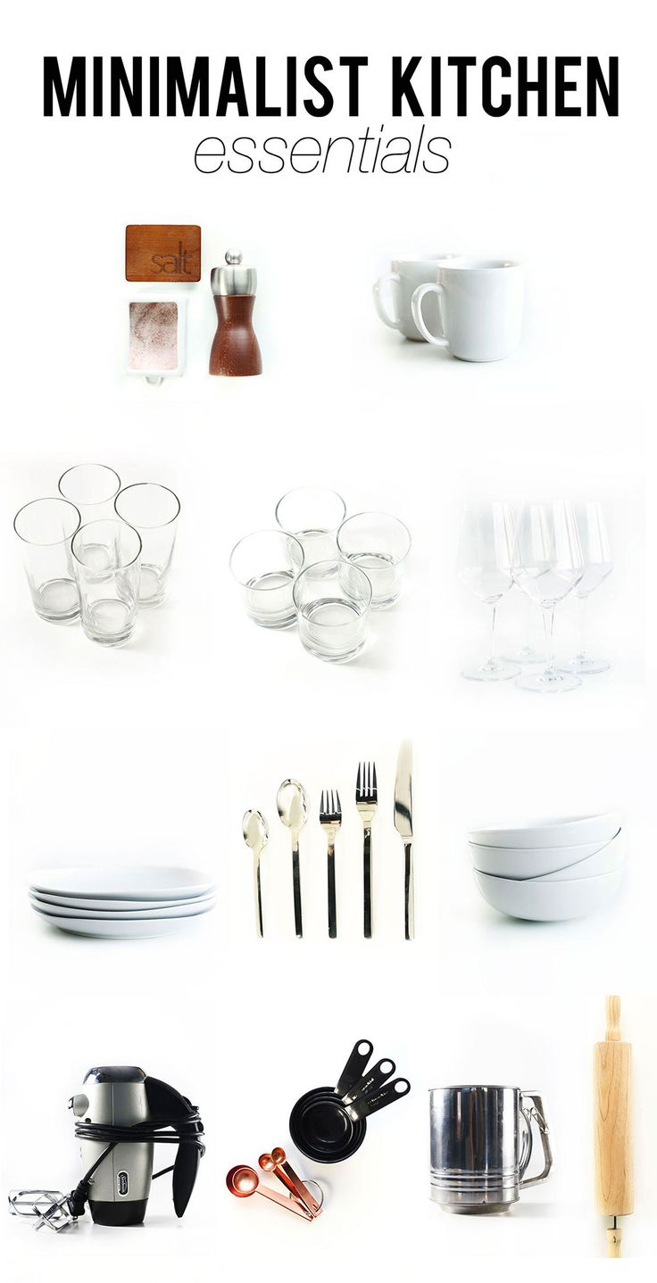 1000 ideas about minimalist kitchen on pinterest for Kitchen utensils list