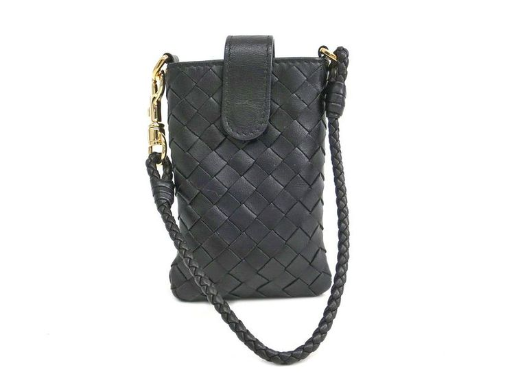 BOTTEGA VENETA Cellphone Case Intrecciato Calfskin Black 172765 (BF305489) Authenticity guaranteed, free shipping worldwide & 14 days return policy. Shop more #preloved brand items at #eLADY: http://global.elady.com