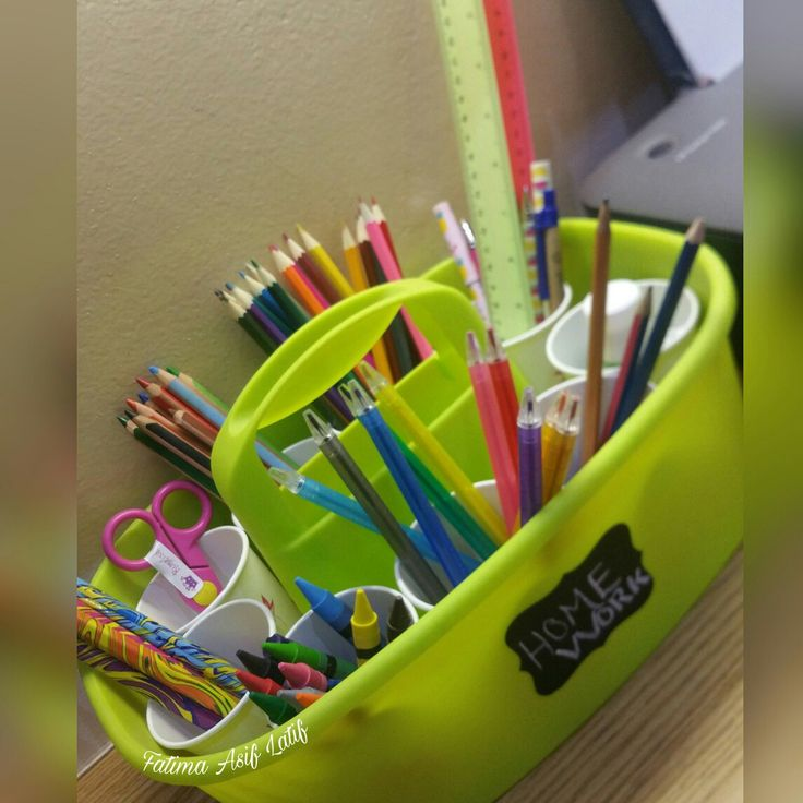 Homework caddy.  Inspired by a picture on pinterest.  Perfect for study organization