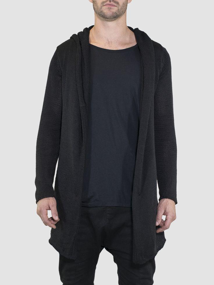Seth Knitted Cardigan Black