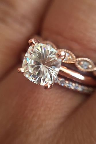 24 rose gold engagement rings that will make you blush - Wedding Rings Gold