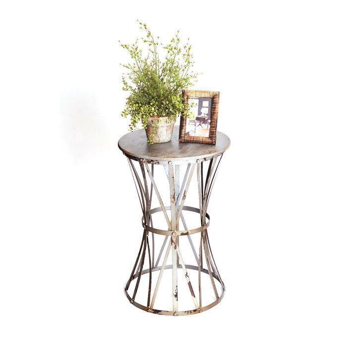 RTA Home And Office Haven Metal End Table & Reviews | Wayfair
