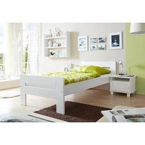 Eenpersoonsbed Bert - wit gelakt - massief grenen - ligoppervlakte 90x200cm