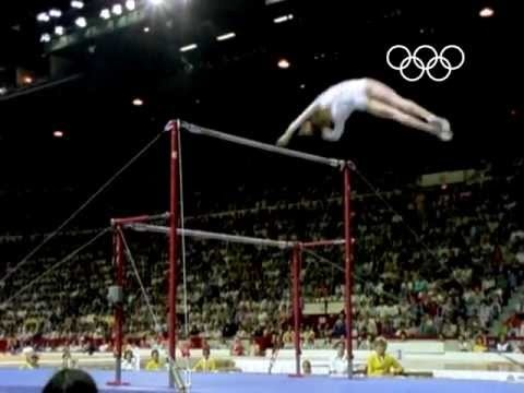 Romanian athlete Nadia Comaneci took up the sport of gymnastics aged six, In 1975, 13-year-old Comaneci won gold in every event at the European Championships except the floor exercise. A year later in Montreal, she became the first gymnast in Olympic history to be awarded the perfect score of 10.0 for her performance on the uneven bars. She went on to record the perfect 10.0 six more times and became the youngest all-around Olympic gold medallist ever.