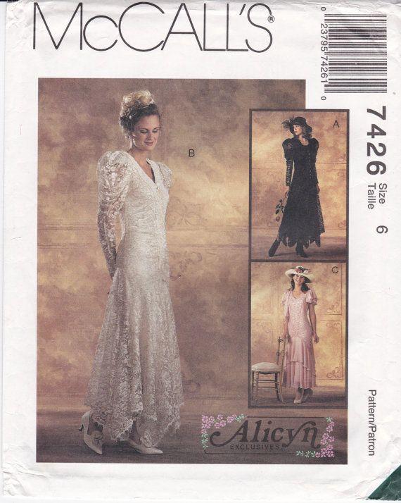 Hermosa Patrones Del Vestido De Boda Mccall Ideas Ornamento ...