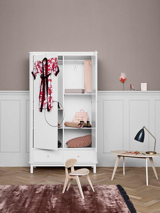 Spectacular Oliver Furniture Wood Kleiderschrank t rig wei