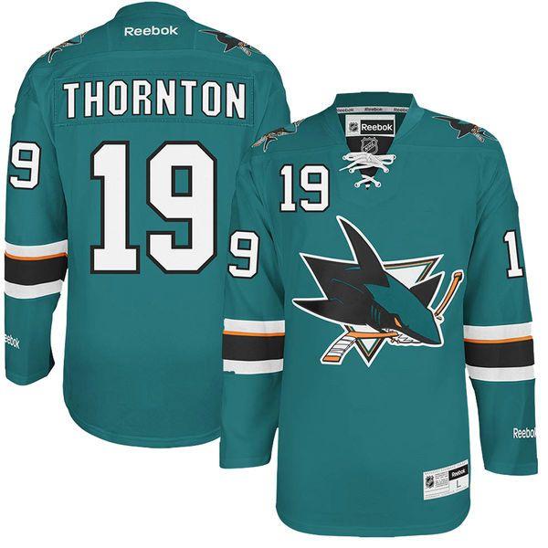 ... Hoodie Joe Thornton San Jose Sharks Reebok Premier Player Jersey - Teal  - 135.99 Old Time Hockey San Jose ... b85a92c55