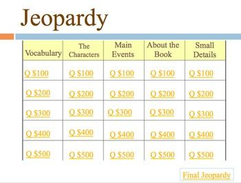 My side of the mountain jeopardy game the o 39 jays for Jeopardy template with sound effects