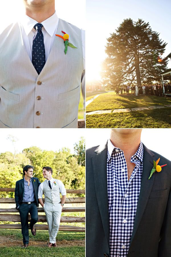 Casual Groom's Attire: I realize this is probably a gay wedding, but I'm thinking the vest one