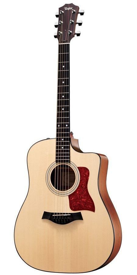 All The Essentials The 110CE from Taylor's 100 Series has all the essentials packaged up nicely. It's a full-size dreadnought body with a cutaway, and also contains an Expression System 2 pickup. The