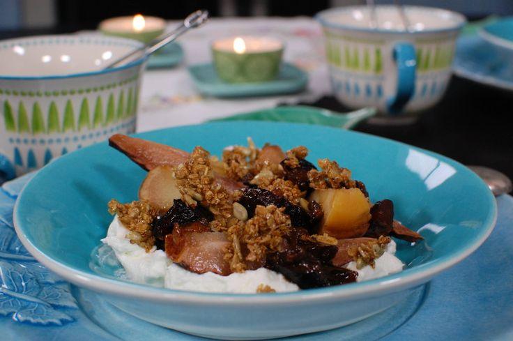 Lyxig frukost med långbakad frukt | Recept | Recept | svenska.yle.fi