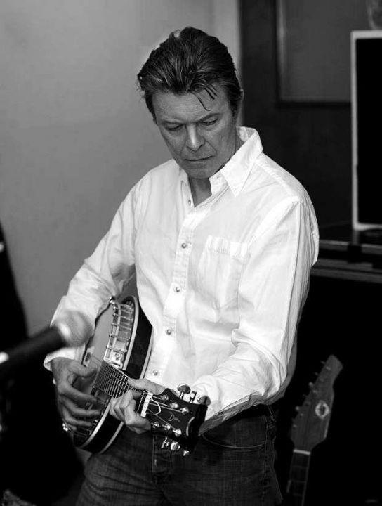 New York, 2012. David Bowie, lors de l'enregistrement de son nouvel album « The Next Day