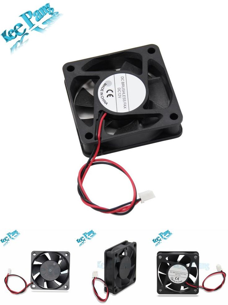 [Visit to Buy] New 6015 Cooling Fan 12 Volt 60mm 3D Printers Parts 3 pin Brushless 6CM DC Fans Cooler Radiator Part Quiet Accessory 60*60*15 mm #Advertisement