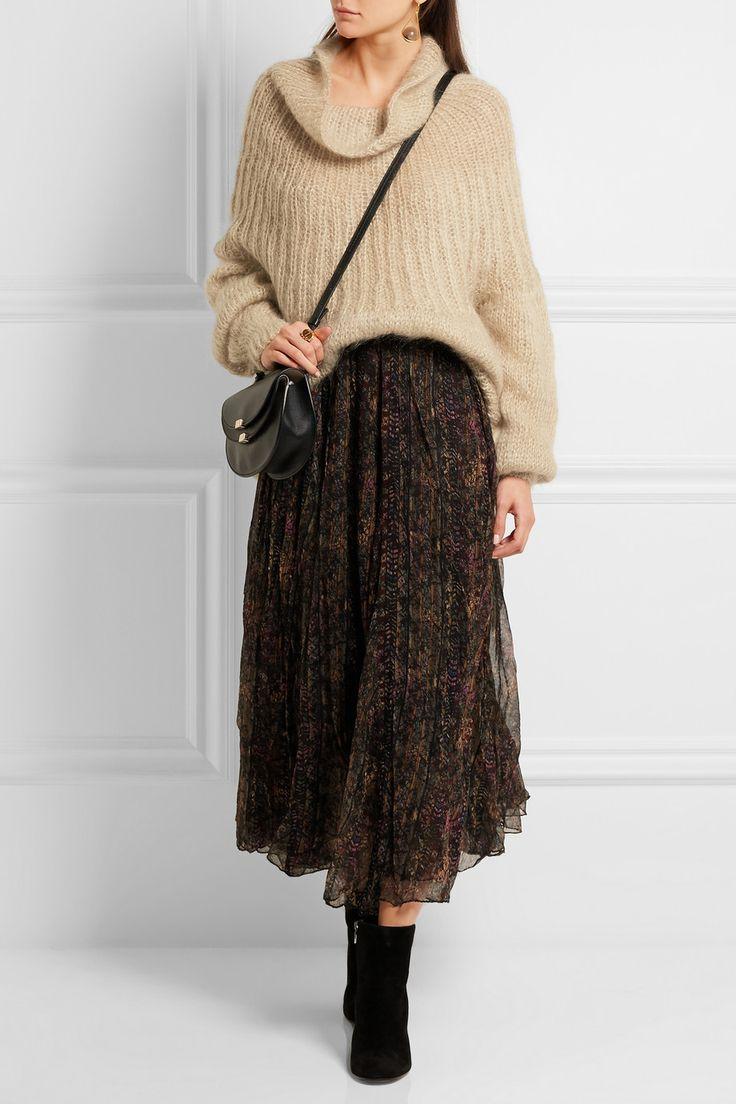 Mes Demoiselles   Lampion metallic mohair-blend sweater   NET-A-PORTER.COM