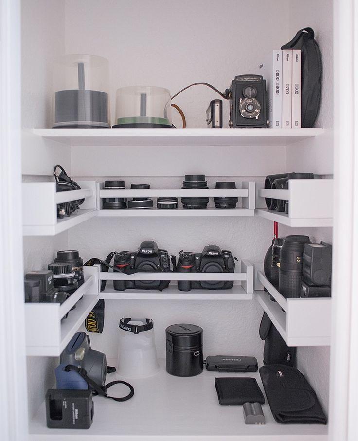 Camera and lens storage
