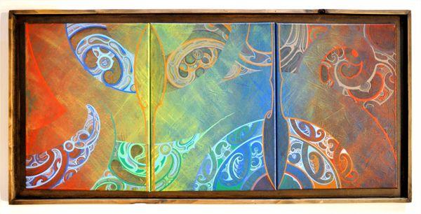 Russell Wilson Kura Gallery Maori Art Design New Zealand Painting