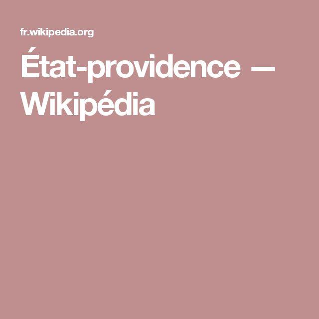 État-providence — Wikipédia