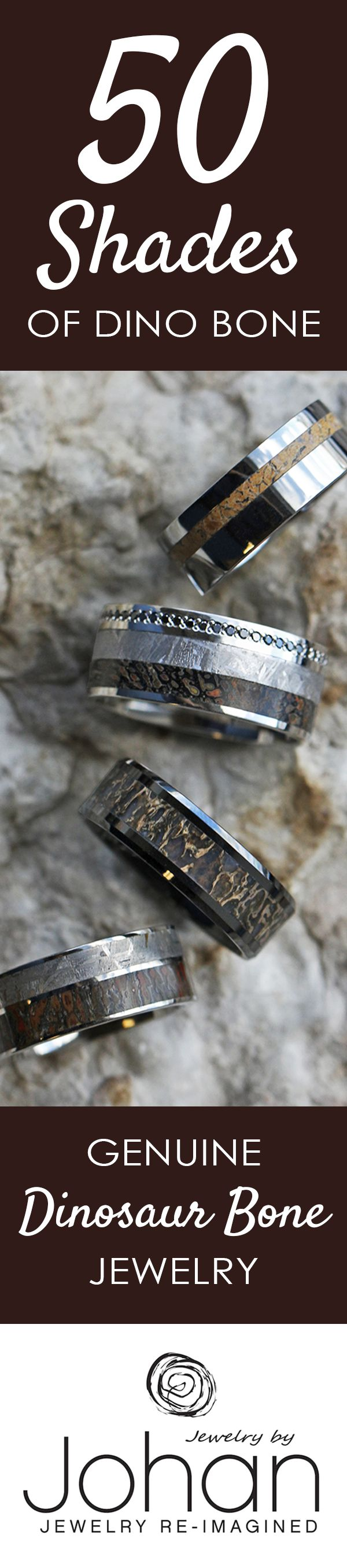 dino bone rings dinosaur wedding band We place 65 million year old gembone into our handmade unique wedding bands and engagement
