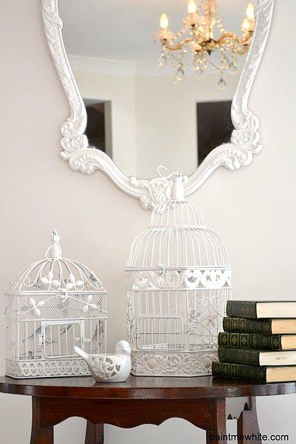 White Bird Cages