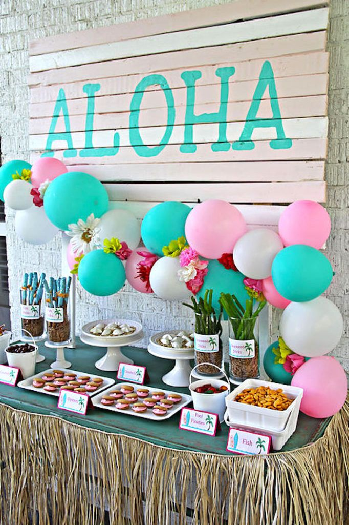 Hawaiian Luau Birthday Party Hawaiian Birthday Luau