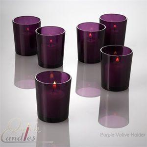 Purple Candle Holders | Glass Votive Holder | Purple Colored Glass
