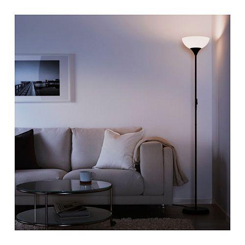 NOT Floor uplight, black, white black/white -