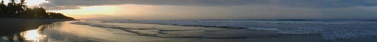 Playa Las Hojas, La Paz, El Salvador. Foto tomada desde el club de playa Las Hojas Resort un 06/03/2016 durante el amanecer.