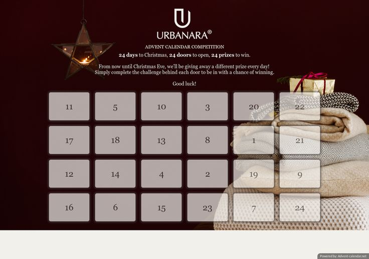 Enter URBANARA's Advent Calendar competition!  Join me and enter for the chance to win a prize a day this Advent.