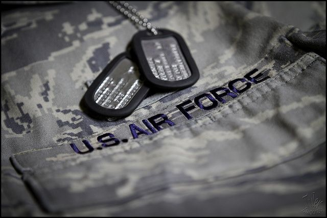 Air Force Camo and Dogtags