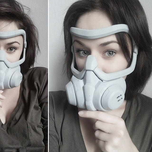 Inspired Tracer graffiti mask from Overwatch