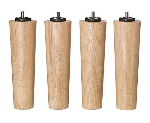 Ikea Bedroom Bed Risers Best Natural 100 Wood Oak Leg Easy