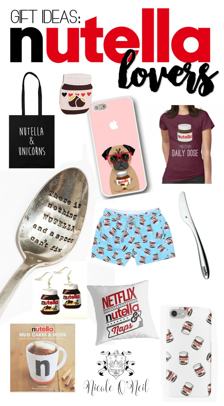 Celebrate World Nutella Day with these Fun Gift Ideas for Nutella Lovers - Perfect for any chocoholic or Nutella addict, this gift guide will leave you with plenty of ideas for Birthday Gifts, Christmas, Easter, Valentine's Day Gifts, Anniversary, Wedding, Bridal Shower, Baby Showers and more.