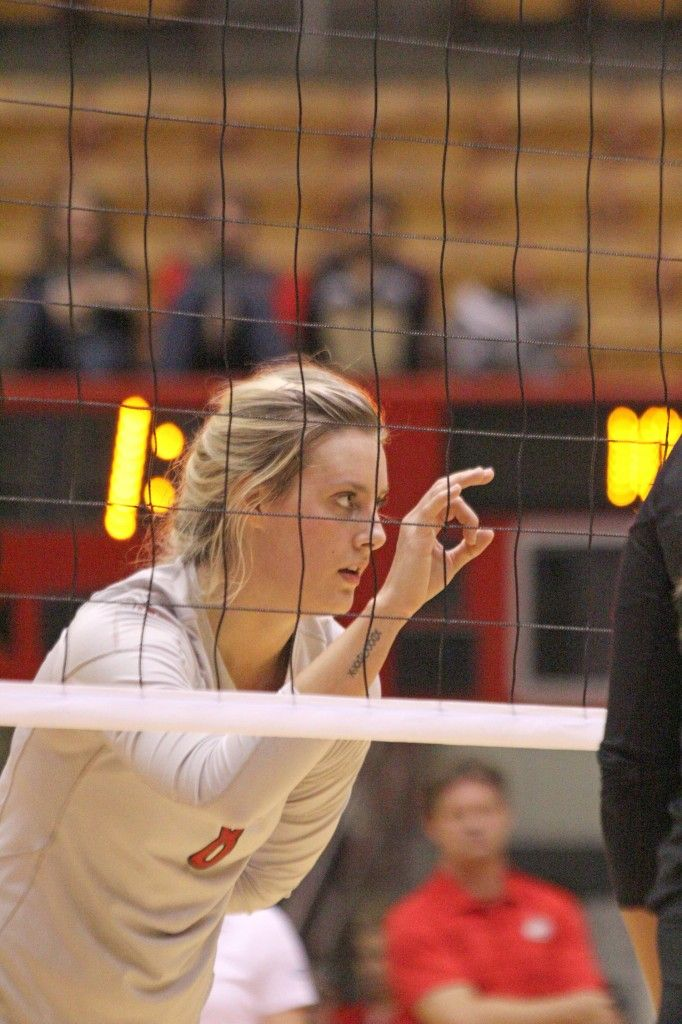 Volleyball Setter Hand Signals Senior setter taylor sherwin