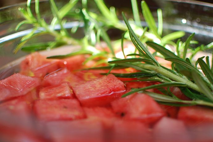 Watermelon Rosemary Infused Vodka - use for The Rosebud (with chunks of watermelon)