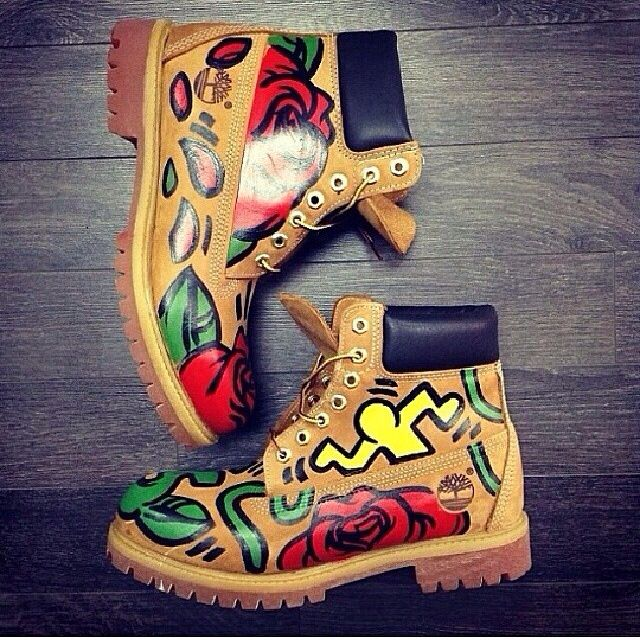 Abstract custom timbs. | Customs | Pinterest | Abstract