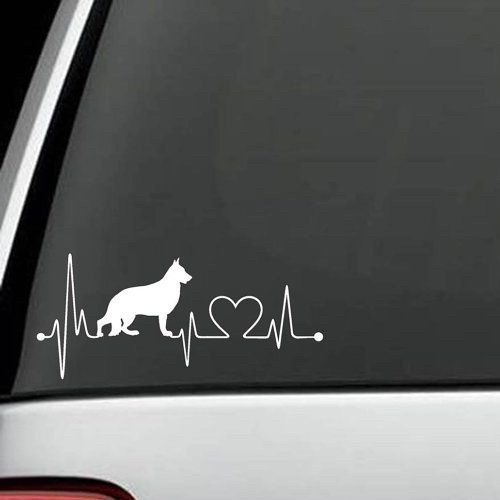 Is your German Shepherd the Love of Your Life? Show off your Love by putting this decal on your vehicle. This Decal is an Exclusive Design. It might be copied,