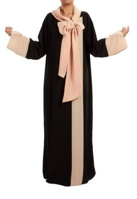 Riyadh: Lum Riyadh  Soft - Soft - Light crepe abaya with peach chiffon >> Explores our Deals!
