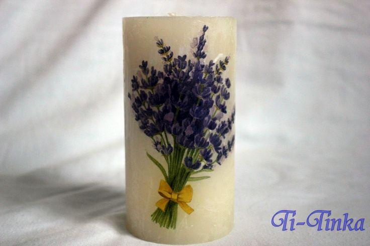 decoupage candle by Ti-Tinka