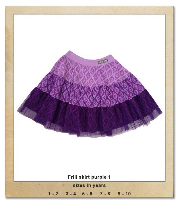 Sillybilly© clothing:  Frill skirt purple 1