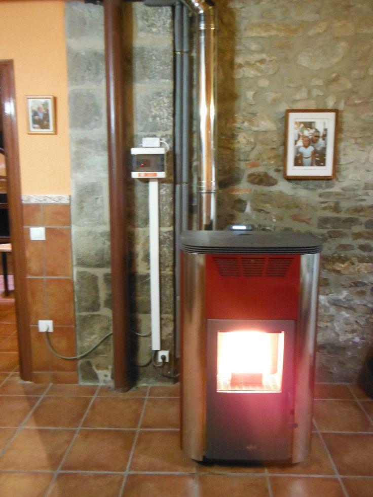 Hidroestufa de biomasa ecoforestenmadr que calienta el - Radiadores agua caliente ...