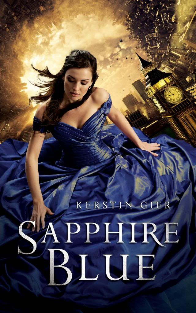 Sapphire blue / Kerstin Gier: Sixteen-year-old Gwen, the newest and final member of the secret time-traveling Circle of Twelve, searches through history for the other time-travelers, aided by friend Lesley, James the ghost, Xemerius the gargoyle demon, and Gideon, the Diamond, whose fate seems bound with hers.